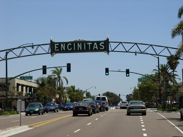 Gateway to Downtown Encinitas California along Mainstreet/Route 101