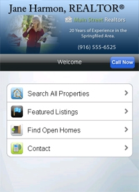 Mobile Website Home Page