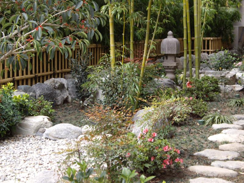 Los Angeles Japanese Garden: Japanese Garden In Urban Downtown Los Angeles