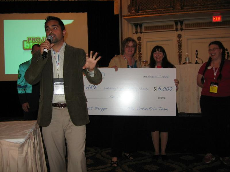 Caleb Mardini announced that Frances Flynn Thorsen and Mary Pope-Handy win Project Blogger!!