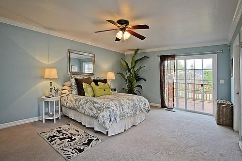 Master bedroom at 267 Hillview