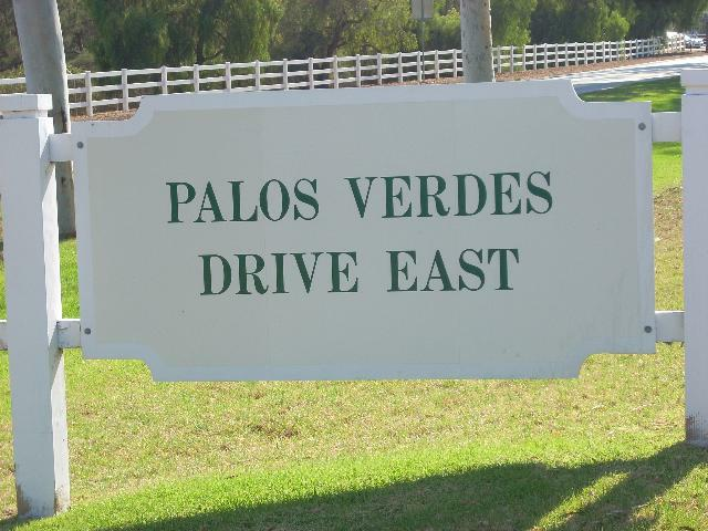 Palos Verdes Drive East sign