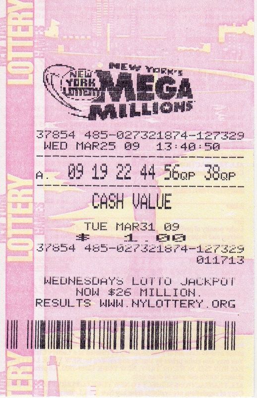 mega million ticket