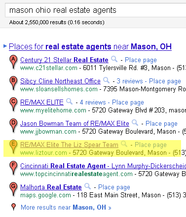 Mason Ohio Real estate agents