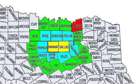 North Texas County Map Business Ideas 2013