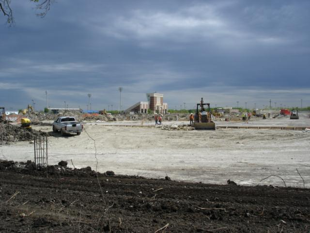 construction site of the McMillen High School Murphy Texas