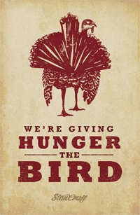 We're Giving Hunger the Bird