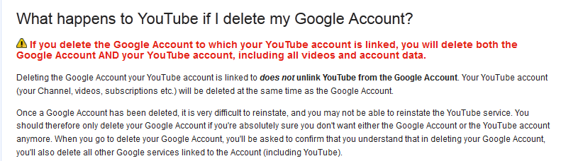 Do NOT Delete your Google Account!