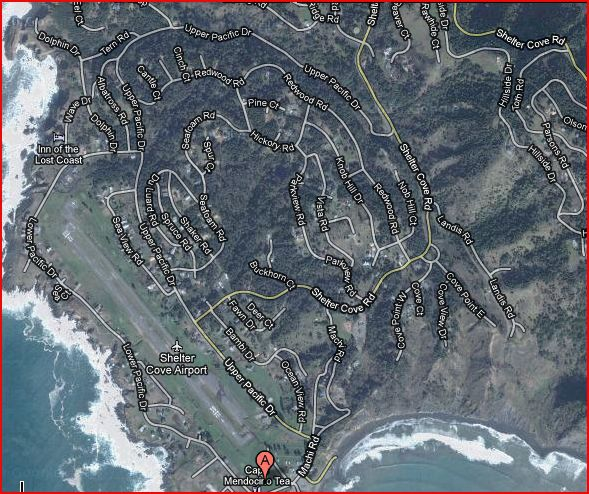 shelter cove 0Q5 airport subdivision map