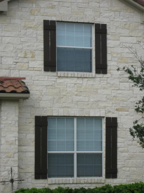 Austin Texas Homes - Exterior Window Shutters