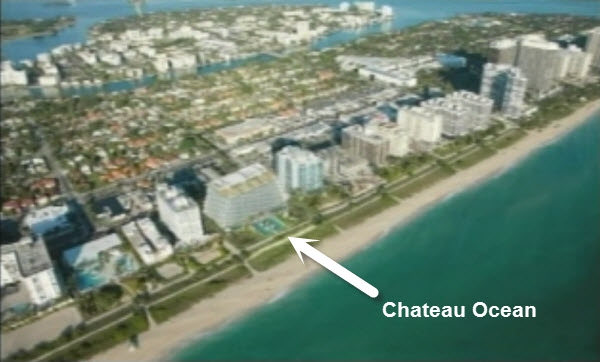 Chateau Ocean Surfside oceanfront and beachfront location