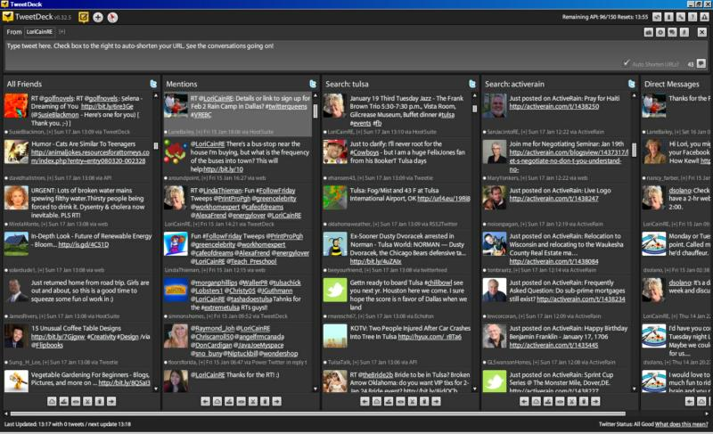 TweetDeck screen shot