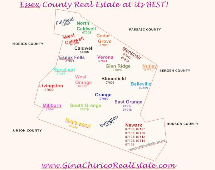 Caldwell New Jersey Map.Steps To Buying A Home In Essex County New Jersey Part I Choosing