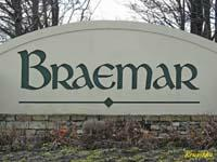 Braemar, Bristow VA entry sign
