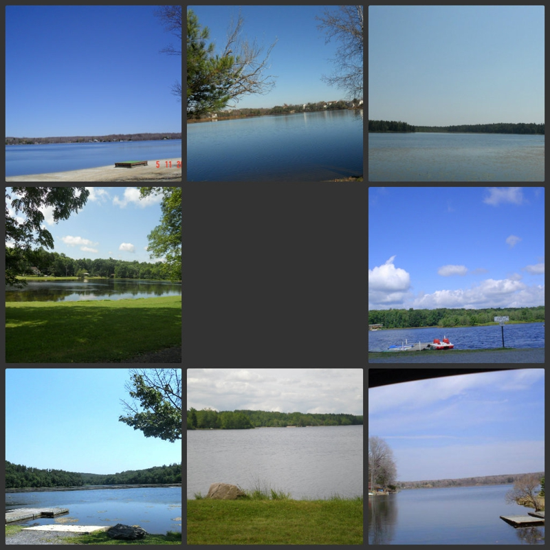 Lake communities in the Poconos