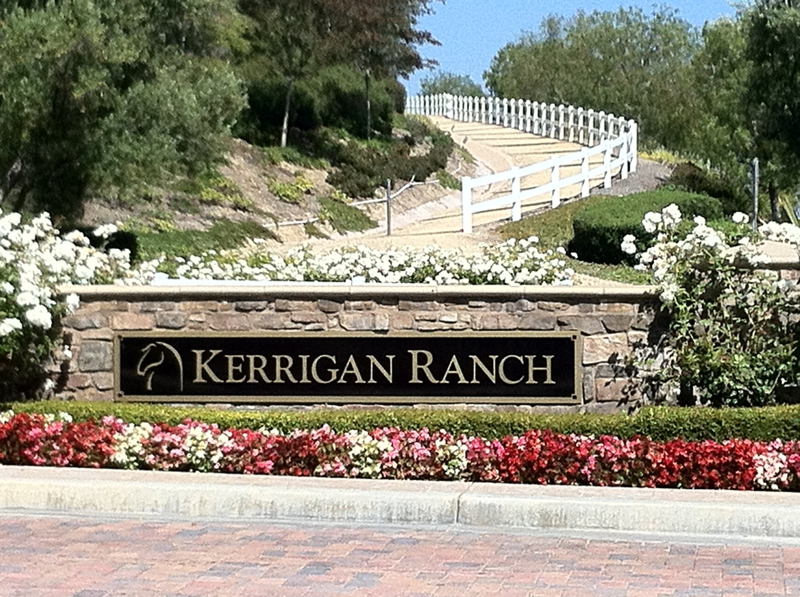 Entrance To Kerrigan Ranch In Yorba Linda CA