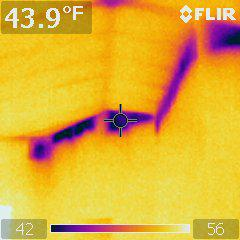 infrared image of wall