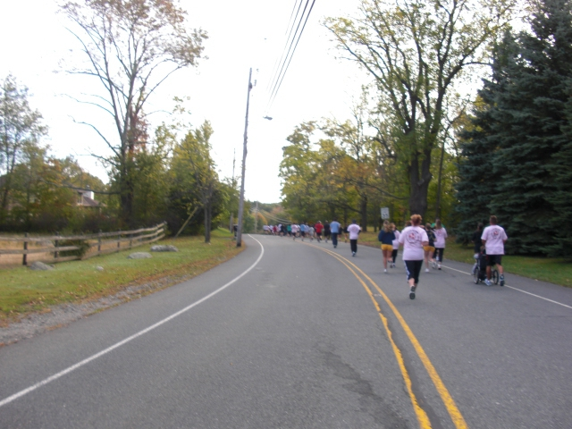 Runners wind down Weldon Road as the 2010 Race Began