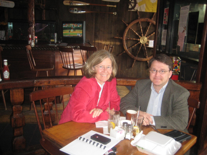 J Philip and Dagny Eason at the Ancient Mariner for a Meet up