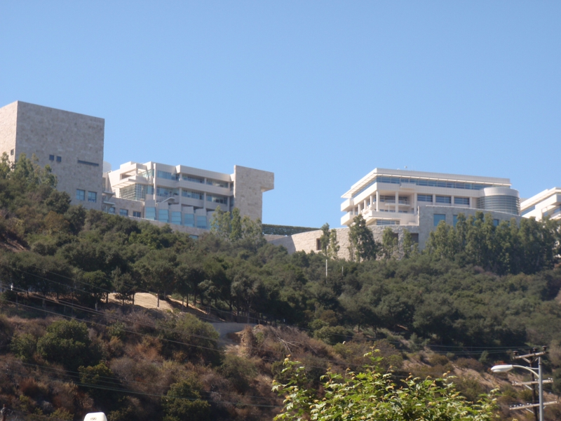 View of the Getty Center from the Humane Society