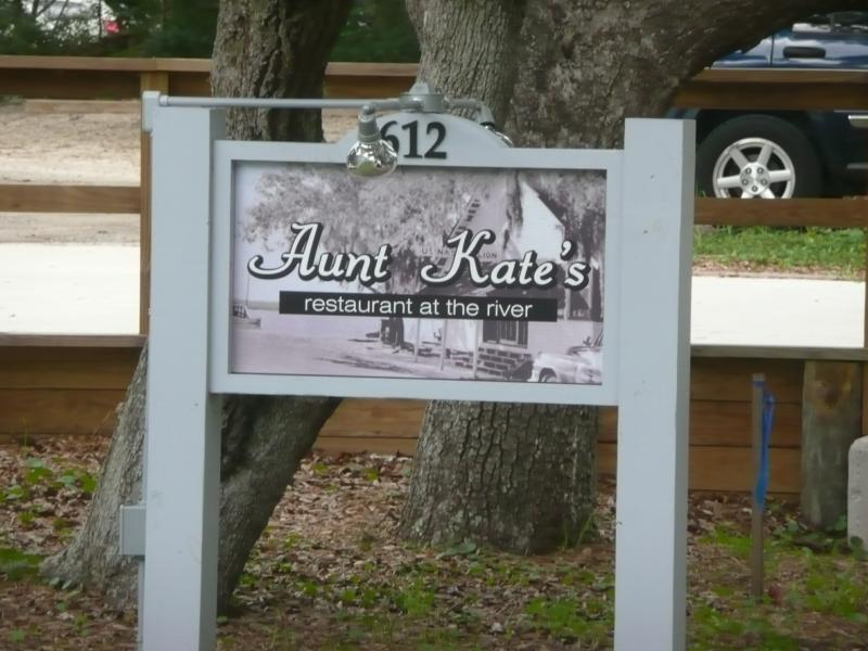 Sign for Aunt Kate's