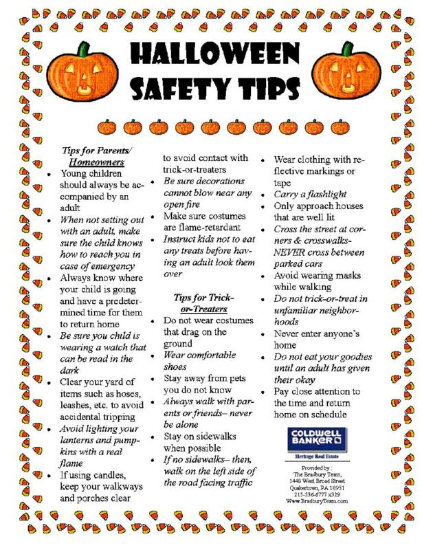 halloween safety tips for parents and homeowners - Halloween Tips