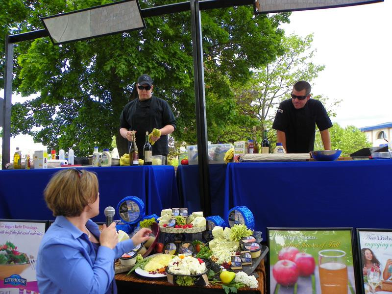 Chefs at the Sandpoint Summer Sampler are introduced to the secret ingredients