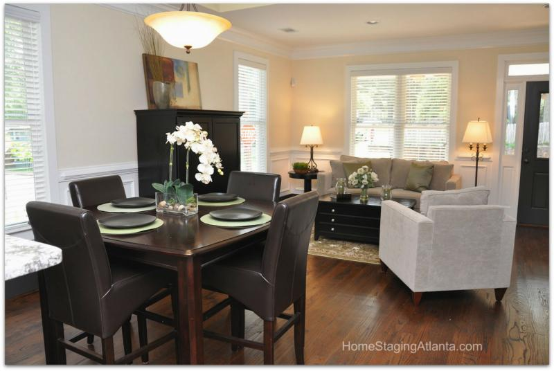 Home Staging Atlanta   Living Room Before And After Pictures Part 49