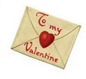 Back of envelope addressed to my Valentine.