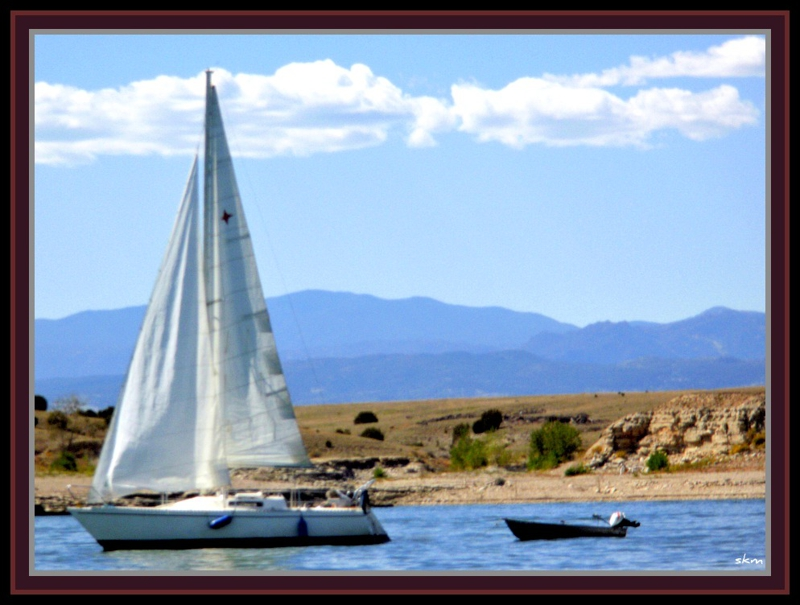 Sailboat at Lake Pueblo State Park