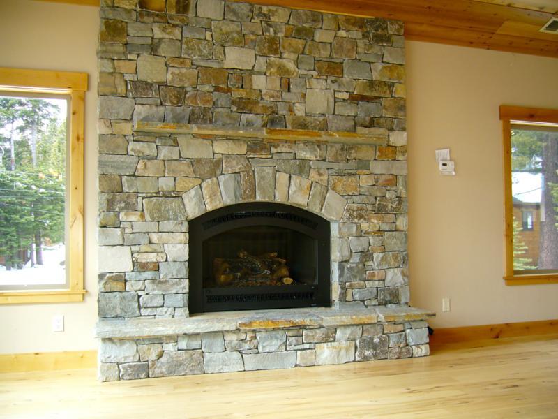 Tahoe home fireplace