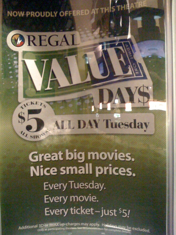 $5 Tuesdays at United Artists Olympus Pointe 12 (Roseville, CA)