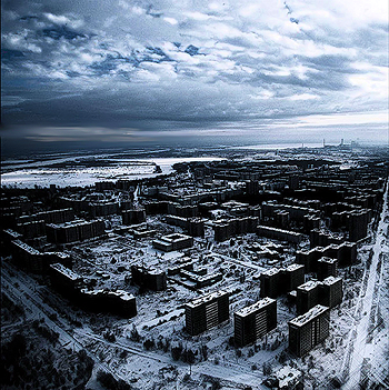 Prypiat, Ukraine - A 50,000 city that had to be abandoned in less than 3 hours due to the Chernobyl nuclear disaster on April, 1986. Because of the radiation on its vicinity, the region will be uninhabitable for at least the next 600 years.