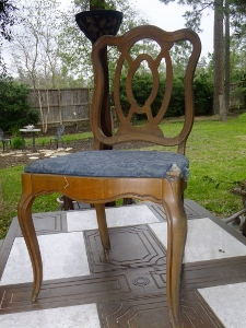 how to re upholster an old chair