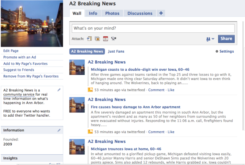 A2 Breaking News on Facebook
