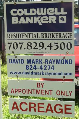 Coldwell Banker Listing Sign for David Mark-Raymond