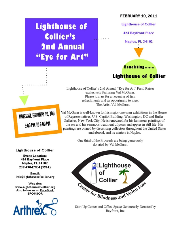 Flyer for Lighthouse of Collier Event Helping the Visually Impaired