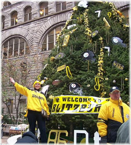 Pittsburght Steelers Fans on a Float