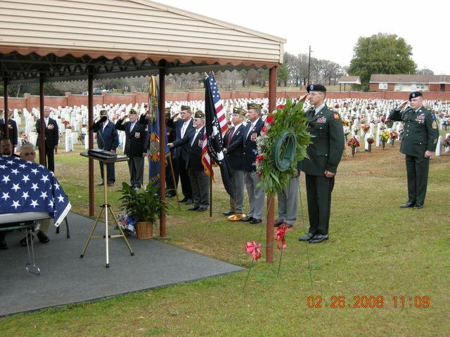 VFW Post 665 Color Guard final tribute