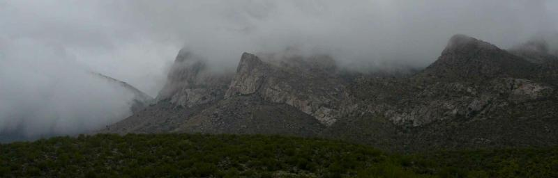 Snow and rain on Pusch Ridge, Oro Valley, AZ