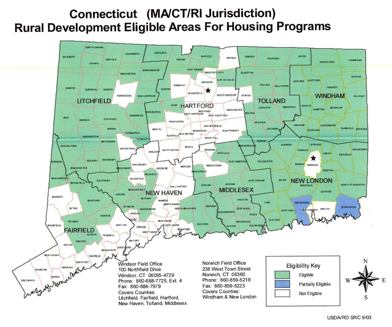 Proposed reduction in usda eligible towns in connecticut for Usda rural development florida