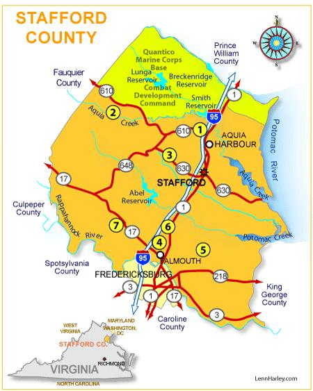 Fredericksburg Virginia Map.New Homes In Stafford County Virginia Fredericksburg