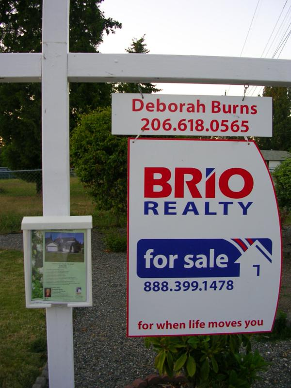 For Sale Yard Sign. BRIO For Sale yard sign