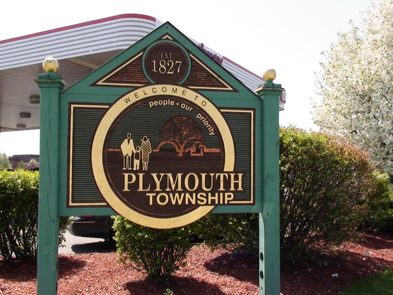 Plymouth Michigan City Sign