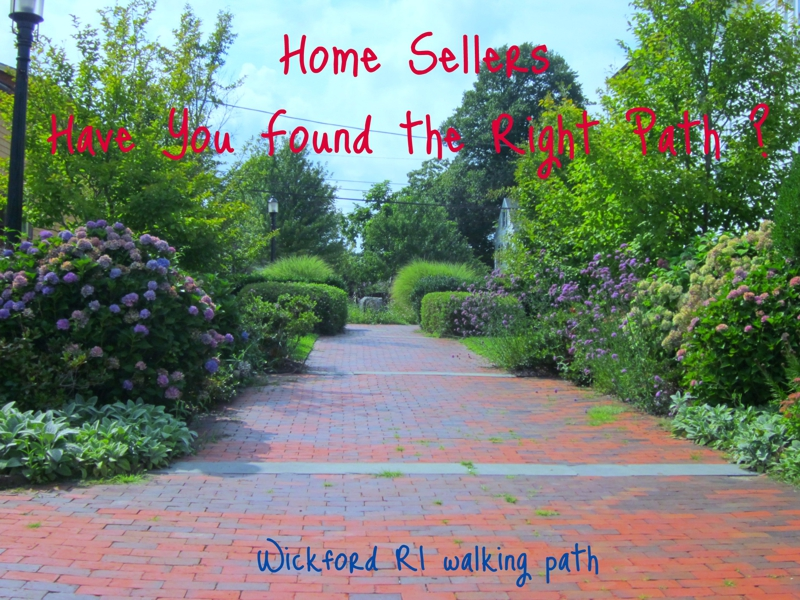 Wickford RI real estate brick pathway