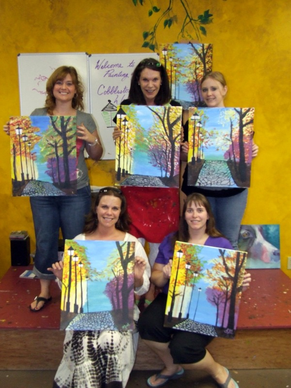 Good news painting with a twist in the woodlands texas for Painting with a twist charlotte nc