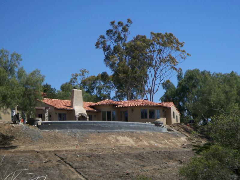 New luxury home construction in Rancho Santa Fe California
