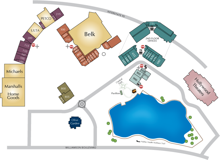 Directory Map of The Pavillion at Port Orange