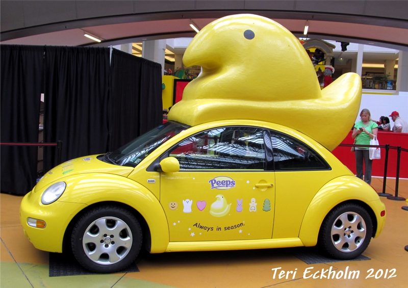 VW Bug with Giant Peep by Teri Eckholm REALTOR