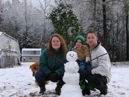 and we HAD to make a snowman!